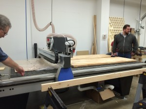 The awesome (and huge!) new CNC router table